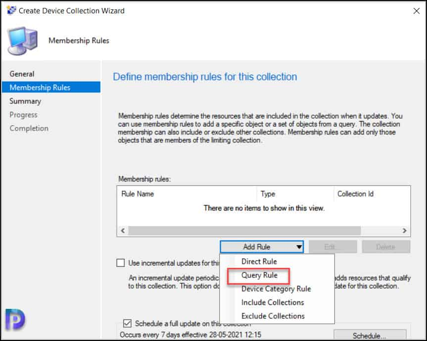 Create SCCM Device Collection for DHCP Servers