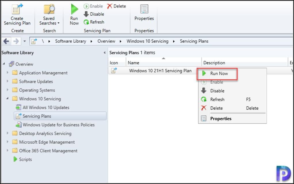 Upgrade Windows 10 21H1 using SCCM