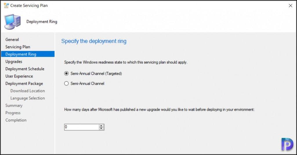 Create SCCM Windows 10 21H1 Servicing Plan
