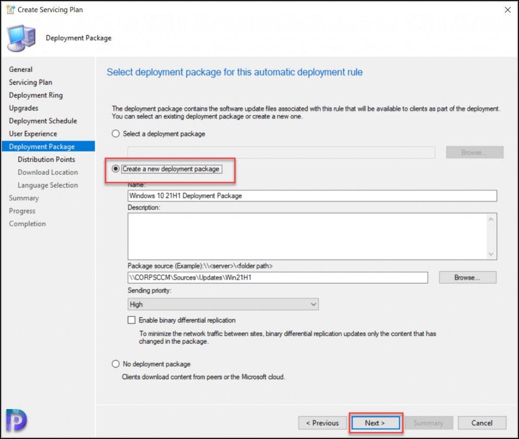 Create Windows 10 21H1 Upgrade Deployment Package