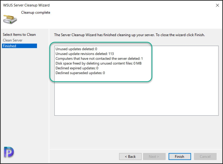 Using WSUS Server Cleanup Wizard to Clean Updates