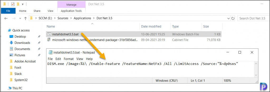 Dot Net Framework 3.5 Install Command