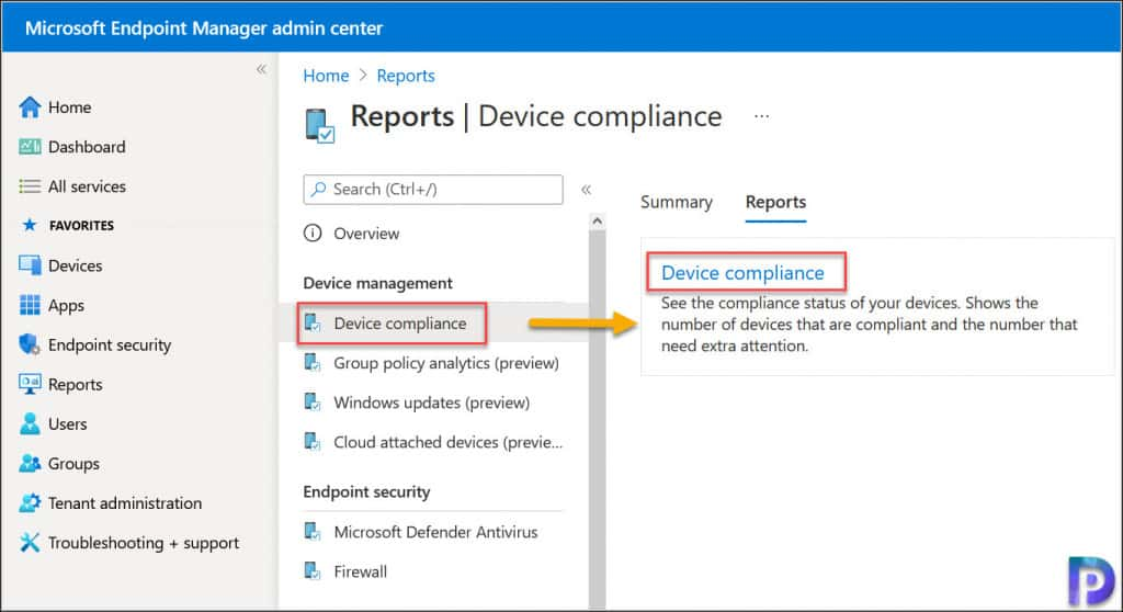 Generate Intune Device Compliance Report