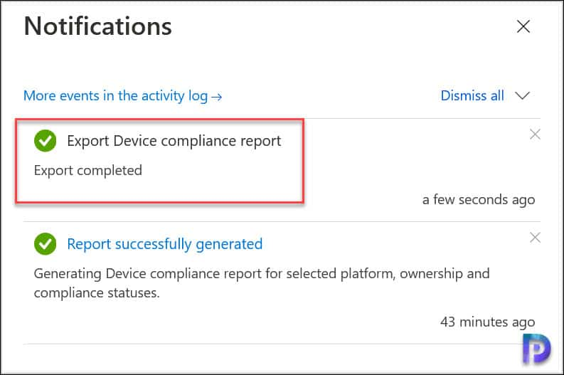 Export Device Compliance Report