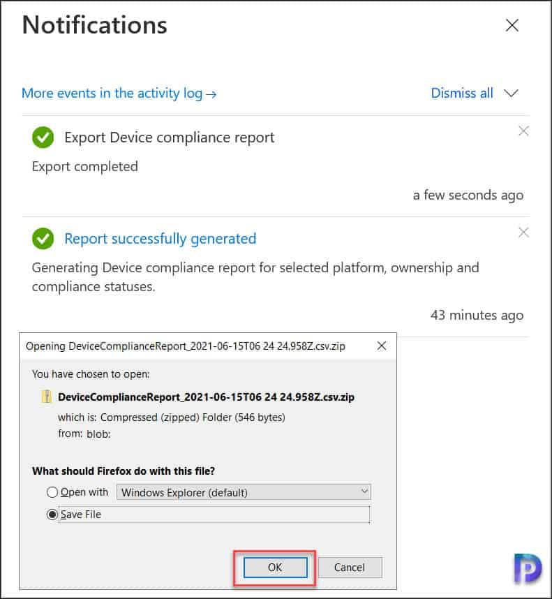 Download Device Compliance Report