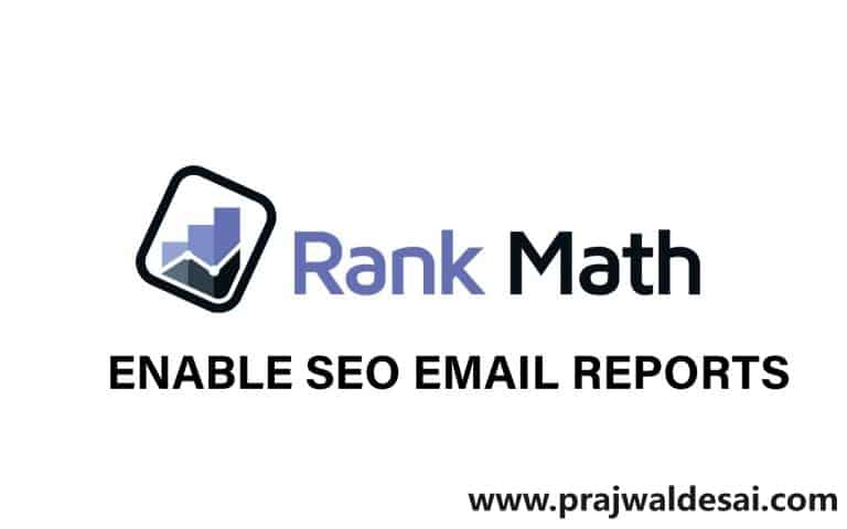 How To Enable RankMath SEO Email Reports