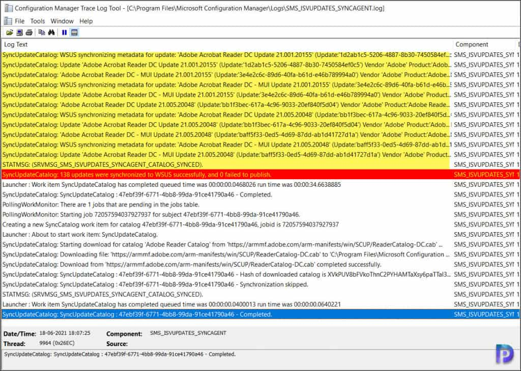 Synchronize Adobe Reader Updates in SCCM