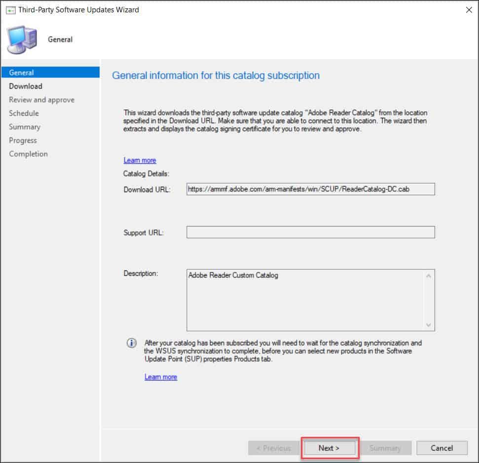 Subscribe to Adobe Custom Catalog