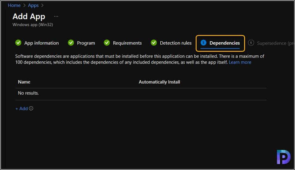 Specify Win32 App Dependencies