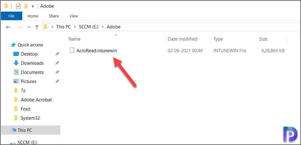 Running the Microsoft Win32 Content Prep Tool