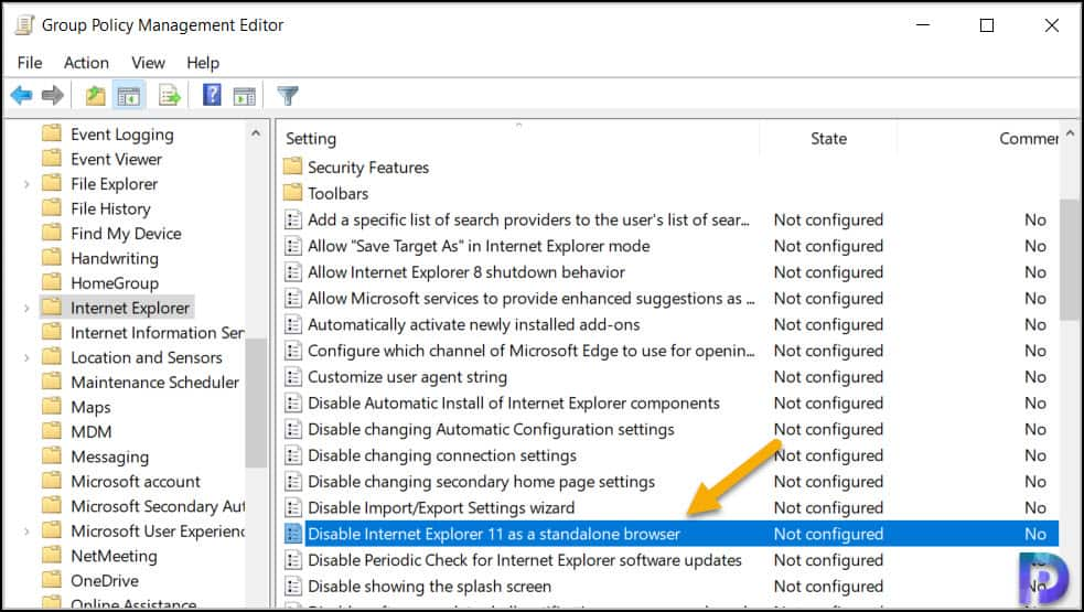 How to Disable Internet Explorer 11 using Group Policy