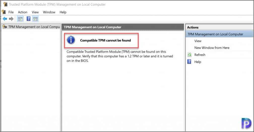 Windows 11 Trusted Platform Module Requirement