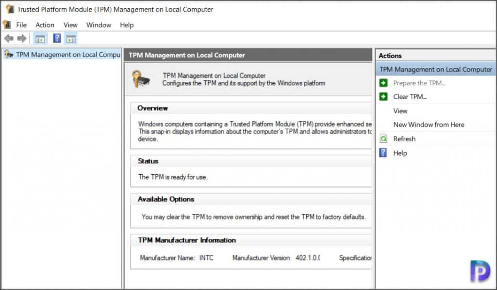 Enable TPM for Windows 11