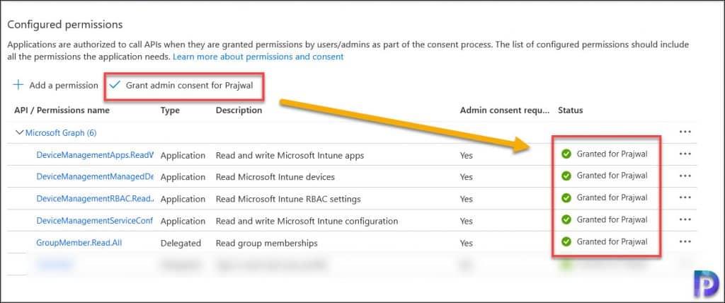 Patch My PC Application API Permissions