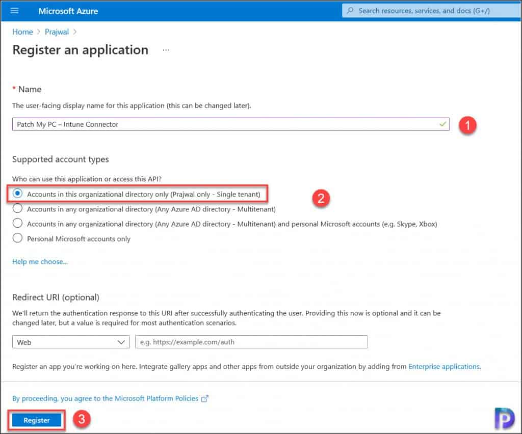 Register Patch My PC Application in Azure AD - Integrate Patch My PC with Intune