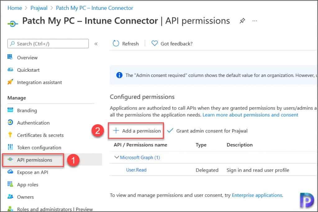 Configure Patch My PC Application API Permissions