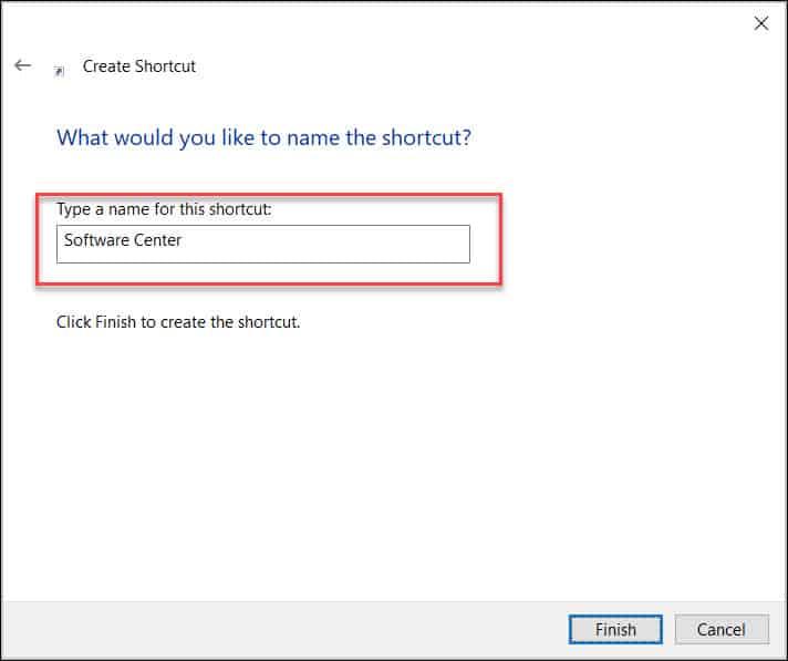 Launch SCCM Software Center using a Shortcut