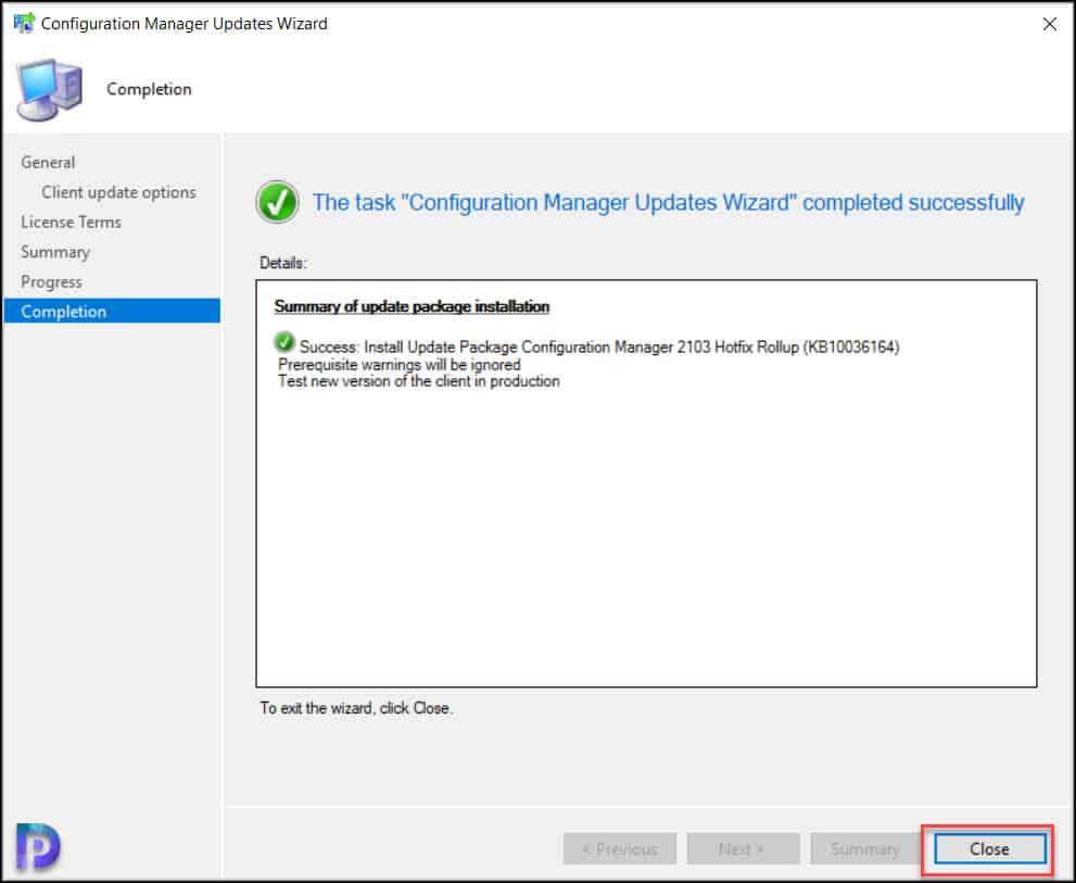 Install SCCM 2103 Hotfix Rollup KB10036164