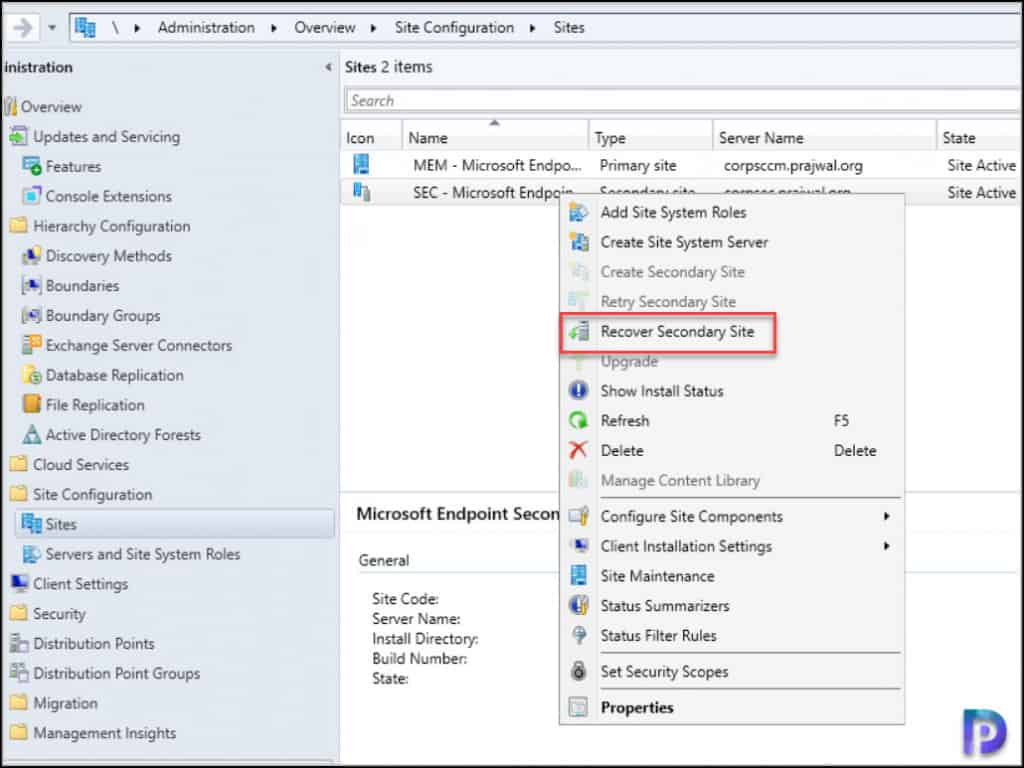 Install KB10036164 on SCCM Secondary Site
