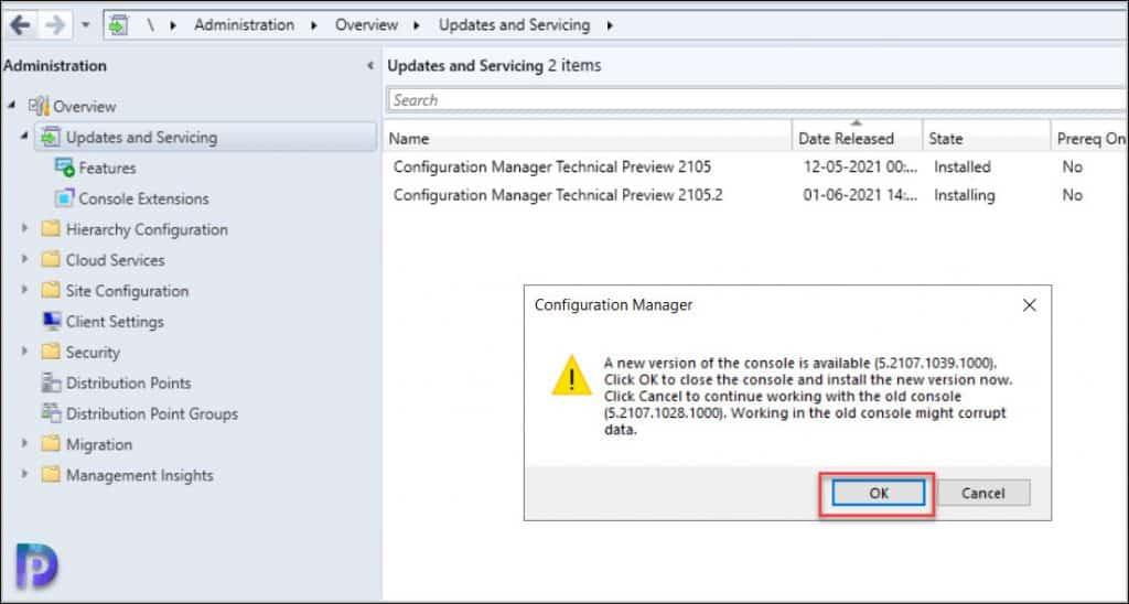 SCCM Technical Preview 2105.2