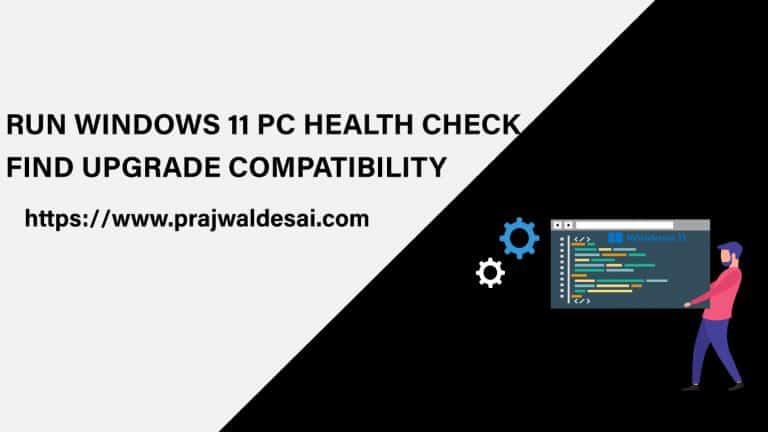 Run Windows 11 PC Health Check