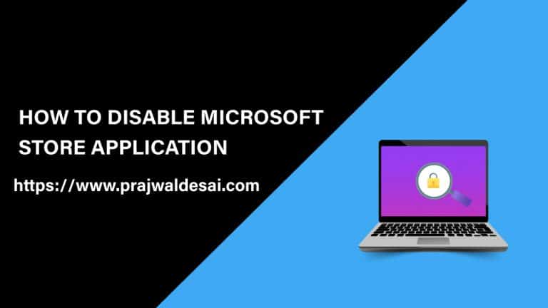 Disable Microsoft Store Application