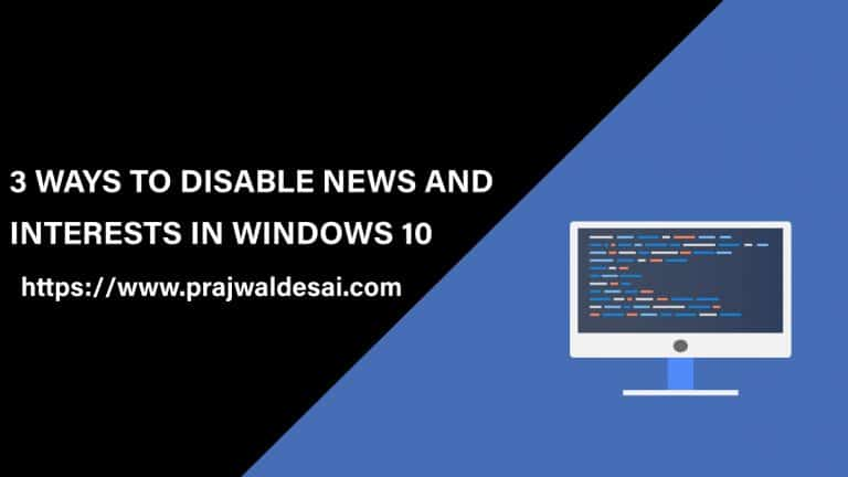 Disable News and Interests in Windows 10