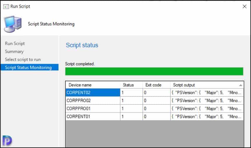 Find PowerShell Version using SCCM Scripts