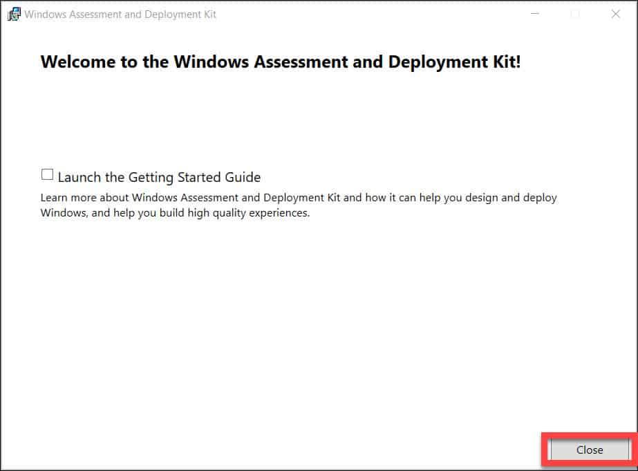 Install Windows 11 ADK