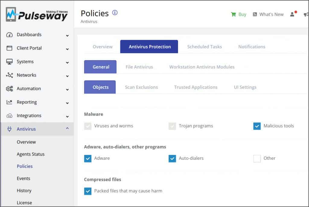 Pulseway Antivirus Protection