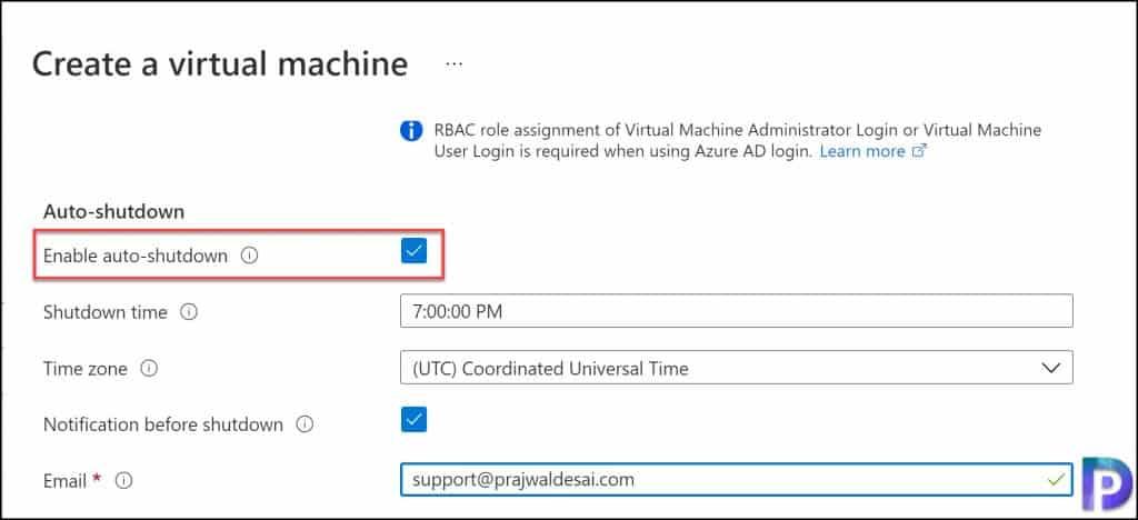 Enable Auto-Shutdown for New Virtual Machines in Azure