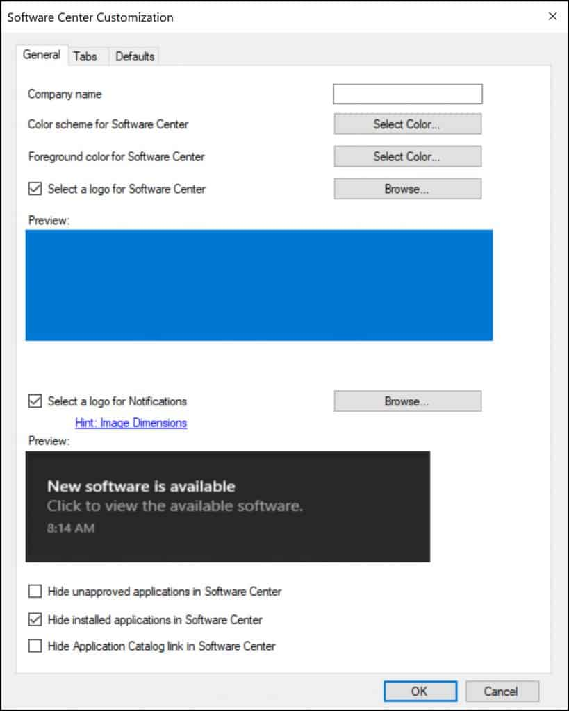 Software Center Logo for Windows 10 Notifications
