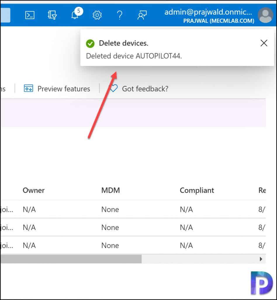 Delete Windows Autopilot Device From Azure AD