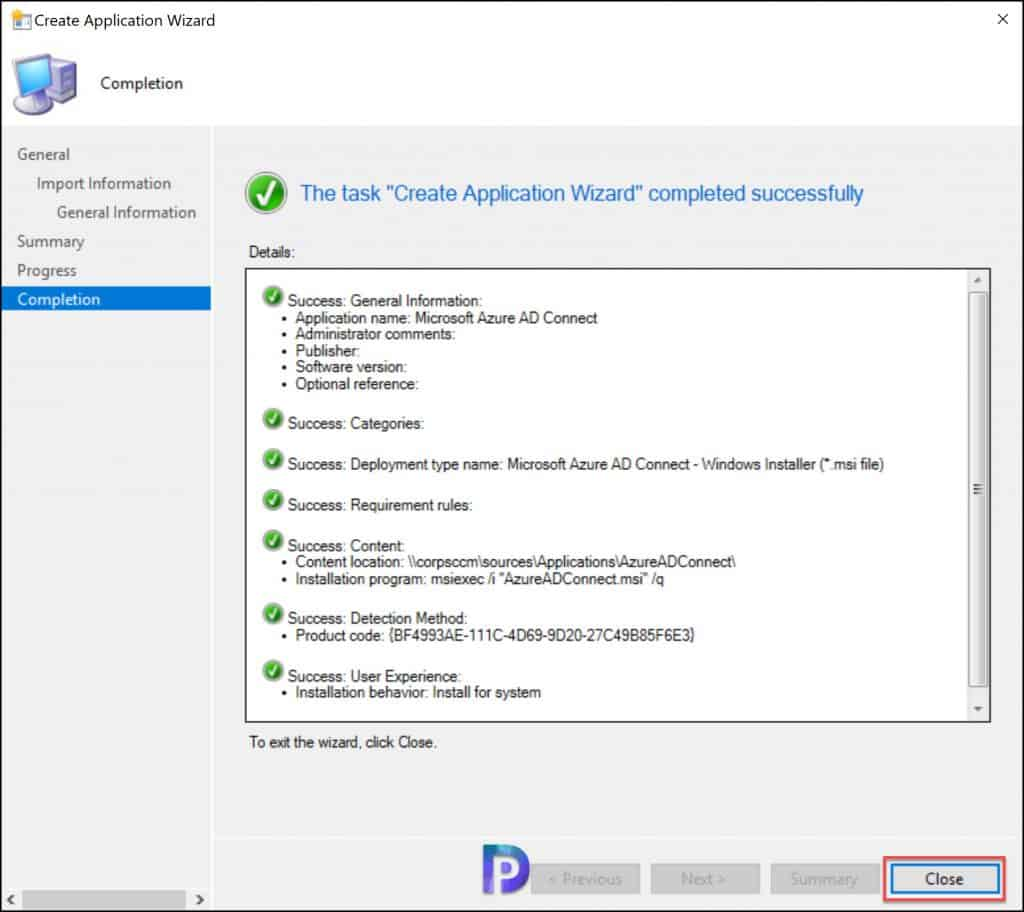 Create Azure AD Connect Application in SCCM