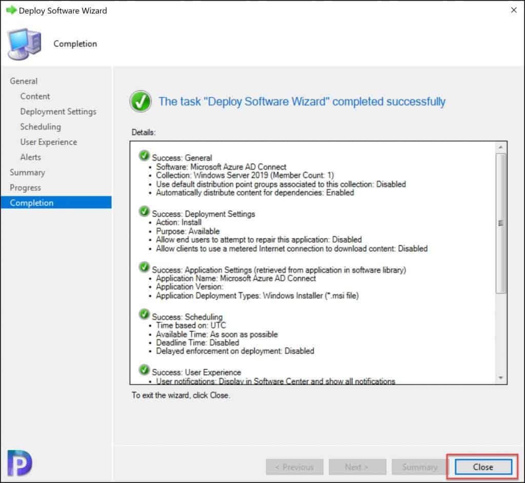 Deploy Azure AD connect using SCCM