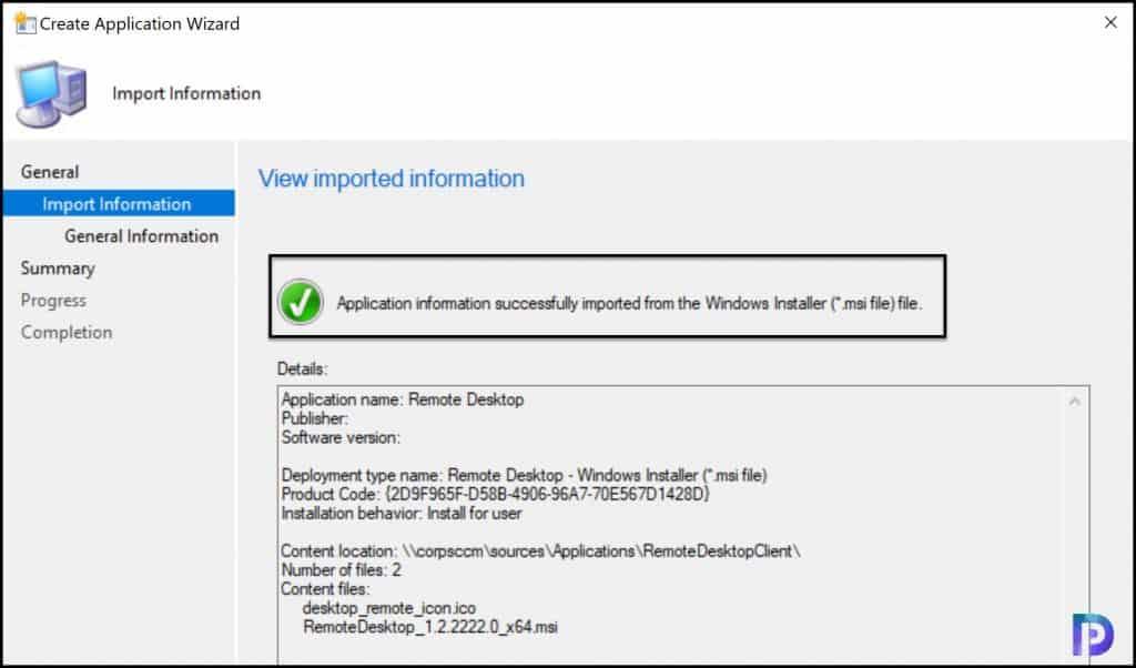 Create Remote Desktop Client Application in SCCM