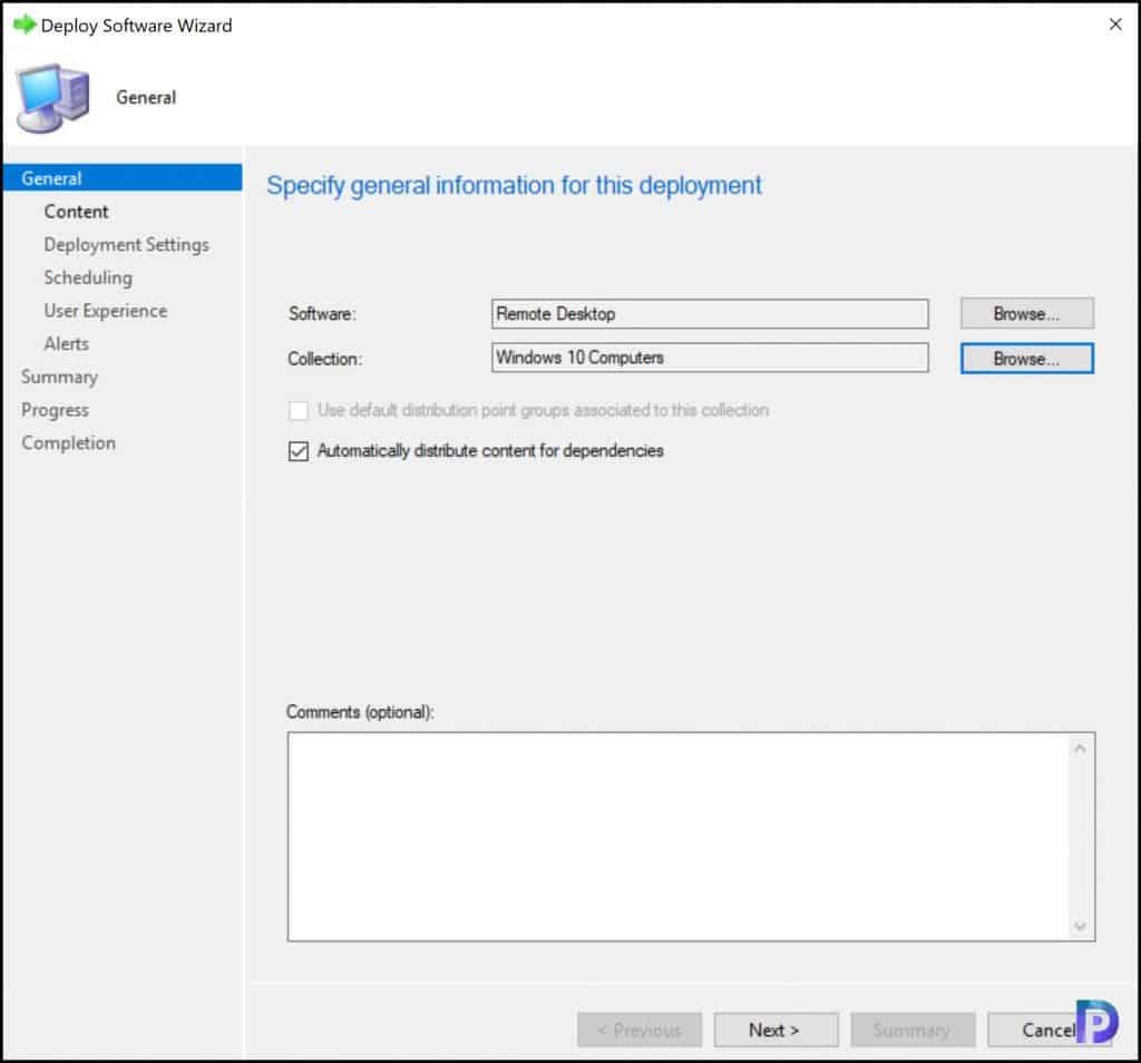 Deploy Remote Desktop Client using SCCM