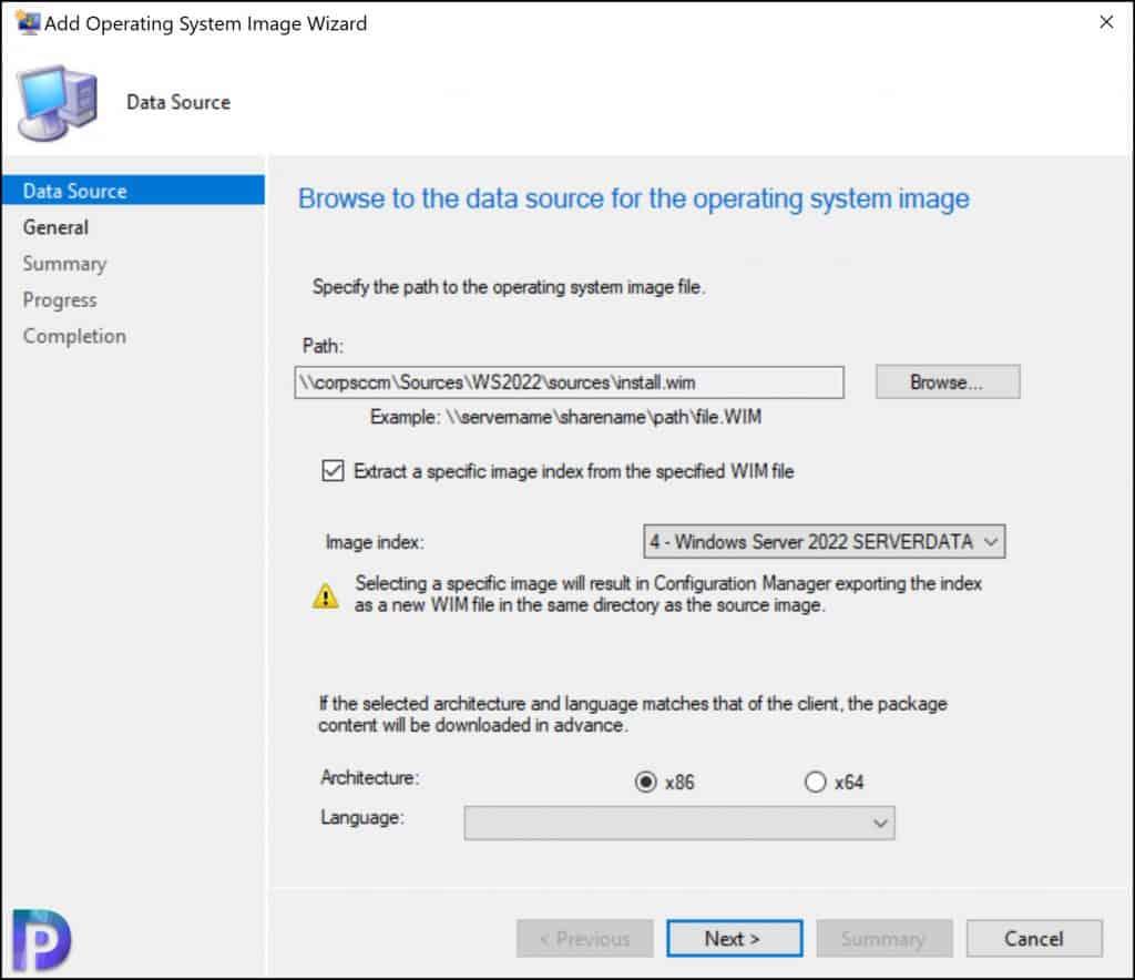 Import Windows Server 2022 Operating System in SCCM