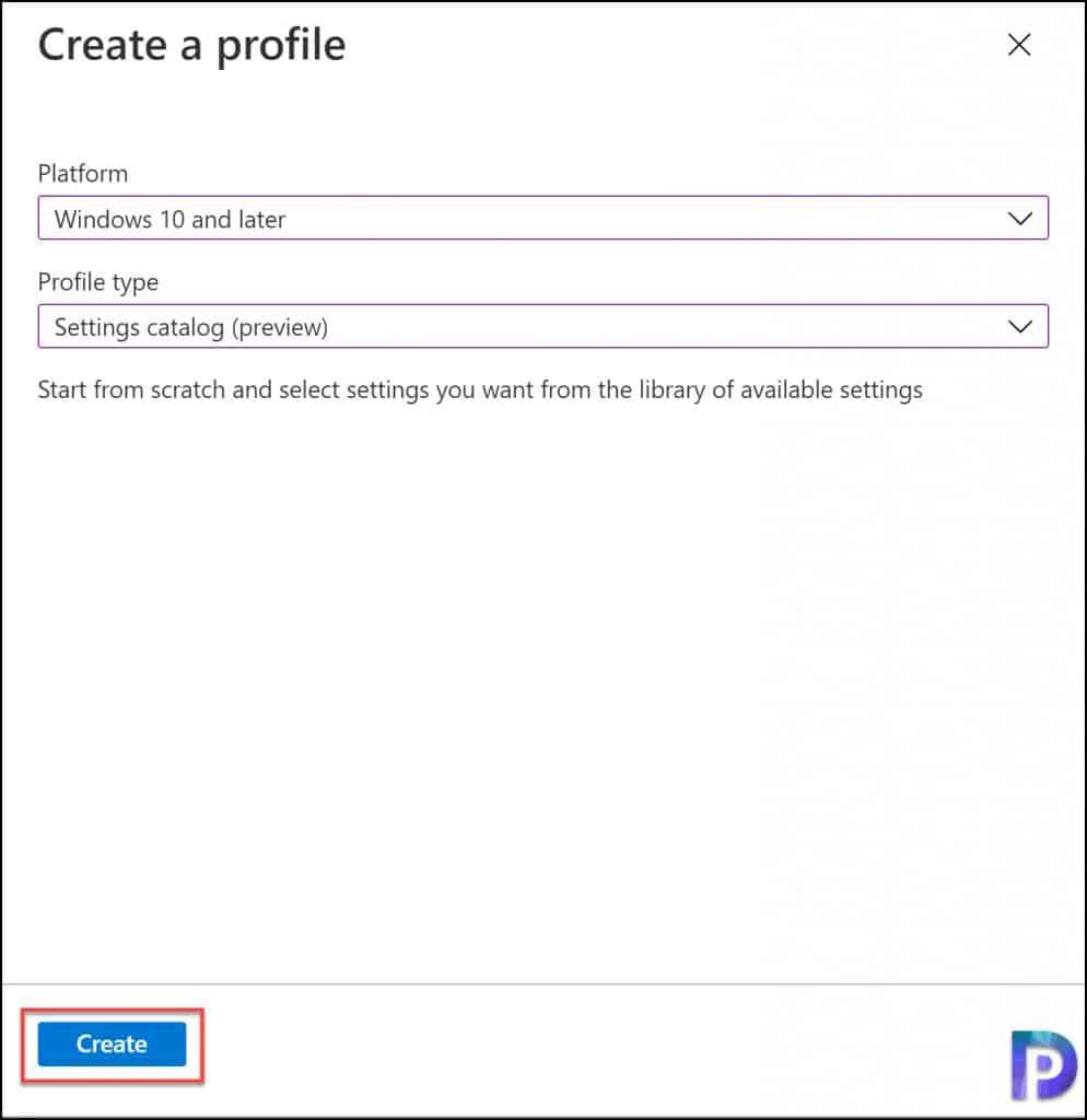 Create a Configuration Profile in Intune