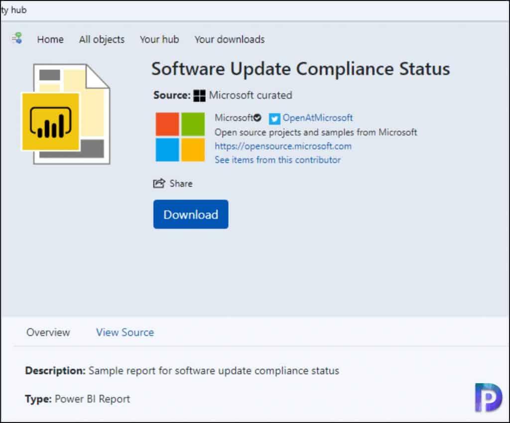 Download Power BI Reports from Community Hub