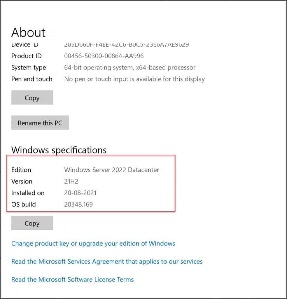 About Windows Server 2022