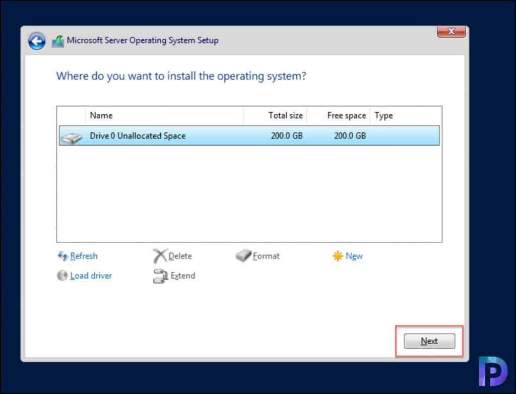 Install Windows Server 2022
