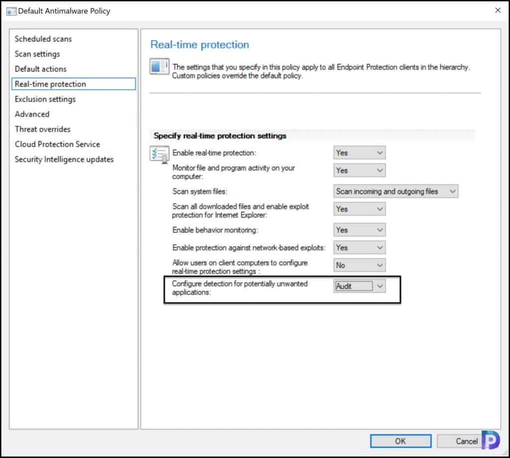 Enable Audit Mode for PUA Detection in SCCM