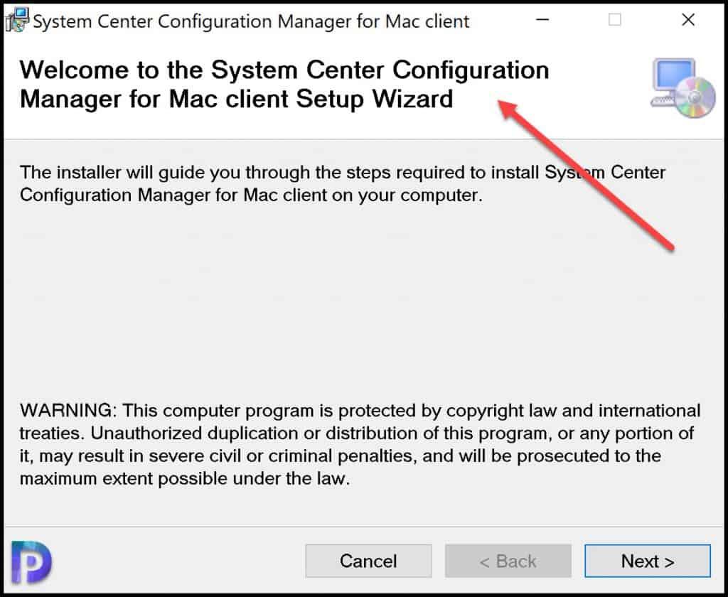 Run Mac Client Setup Wizard