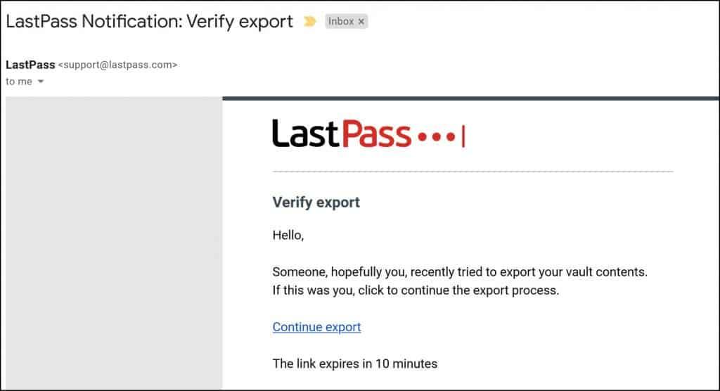 Migrating from LastPass to Bitwarden - Export Passwords
