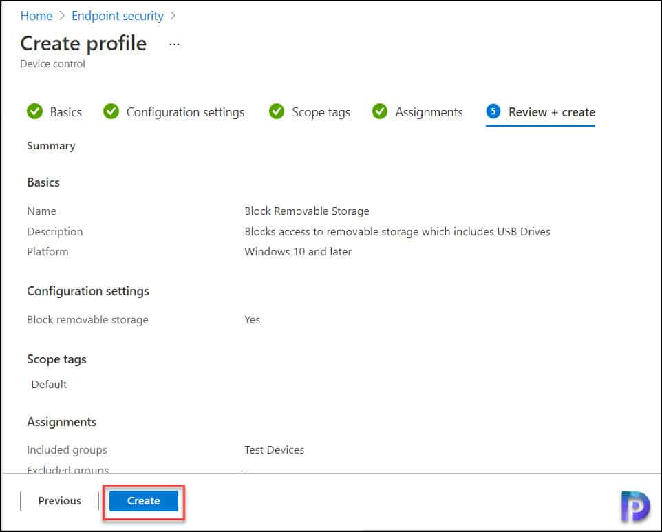 Block Removable Storage using Intune