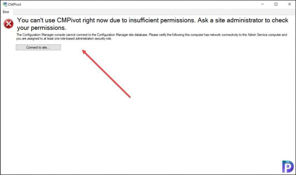 CMPivot Insufficient Permissions