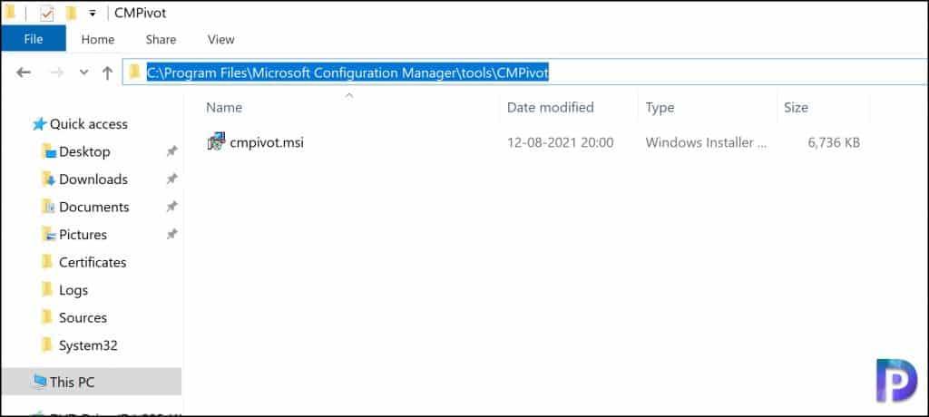 Location of CMPivot.msi standalone app installer