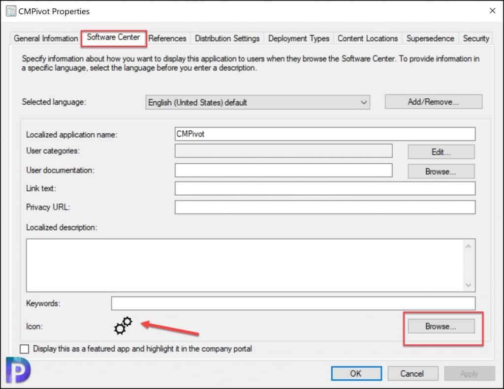Set CMPivot Application Icon