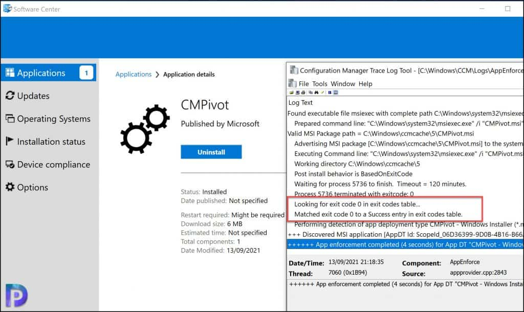 Test the CMPivot Application Installation on Windows 10